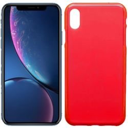 Funda de TPU Mate Lisa para iPhone Xr Silicona Rojo