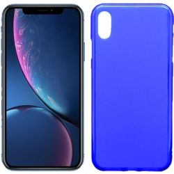 Funda de TPU Mate Lisa para iPhone Xr Silicona Azul