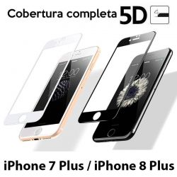 Protector Cristal Templado 5D Completo iPhone 7 Plus / iPhone 8 Plus