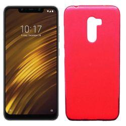Funda de TPU Mate Lisa para Xiaomi Pocophone F1 Silicona Rojo