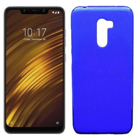 Funda de TPU Mate Lisa para Xiaomi Pocophone F1 Silicona Azul
