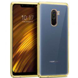 Funda de TPU con Borde Metalizado dorado - Xiaomi Pocophone F1