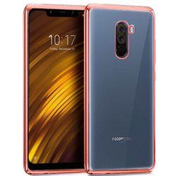 Funda de TPU con Borde Metalizado Oro Rosa - Xiaomi Pocophone F1
