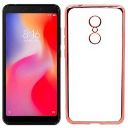 Funda de TPU con Borde Metalizado Oro Rosa - Xiaomi Redmi 6 / Redmi 6A