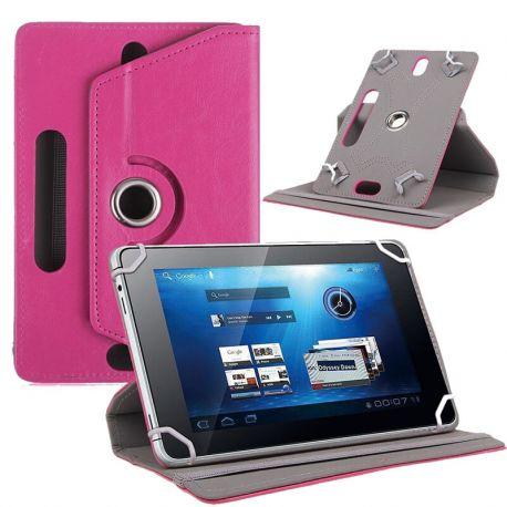 Funda Libro Universal Giratoria 360 y Soporte Tablets 7 pulgadas Rosa