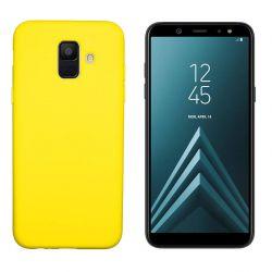 Funda de Silicona tacto suave para Samsung Galaxy A6 Amarillo