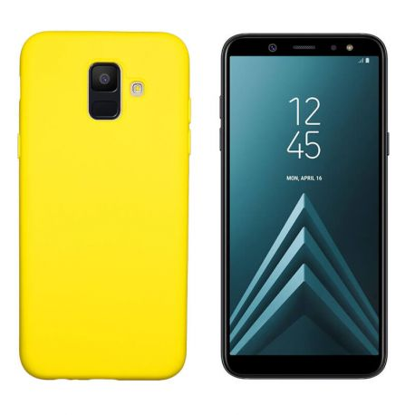 7825b0c7d7a Funda de Silicona tacto suave para Samsung Galaxy A6 Amarillo