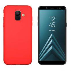 Funda de Silicona tacto suave para Samsung Galaxy A6 Rojo