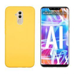 Funda de Silicona tacto suave para Huawei Mate 20 Lite Amarillo