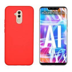 Funda de Silicona tacto suave para Huawei Mate 20 Lite Rojo