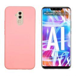 Funda de Silicona tacto suave para Huawei Mate 20 Lite Rosa