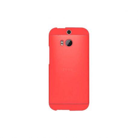 Funda Carcasa Double Dip para HTC One M8 Rojo con Dips Rojos