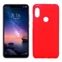 Funda de Silicona Mate para Xiaomi Redmi Note 6 / Note 6 Pro Rojo