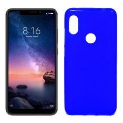 Funda de Silicona Mate para Xiaomi Redmi Note 6 / Note 6 Pro Azul