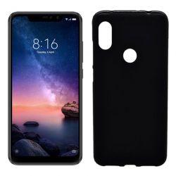 Funda de Silicona Mate para Xiaomi Redmi Note 6 / Note 6 Pro Negro