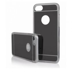 Funda Mirror Gel TPU efecto Espejo para iPhone 5 / 5S / SE Gris Oscuro