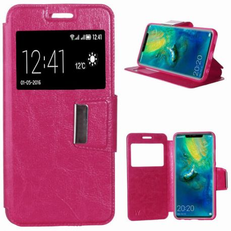 Funda libro Flip Cover Tapa, Ventana y Soporte Huawei Mate 20 Pro Rosa