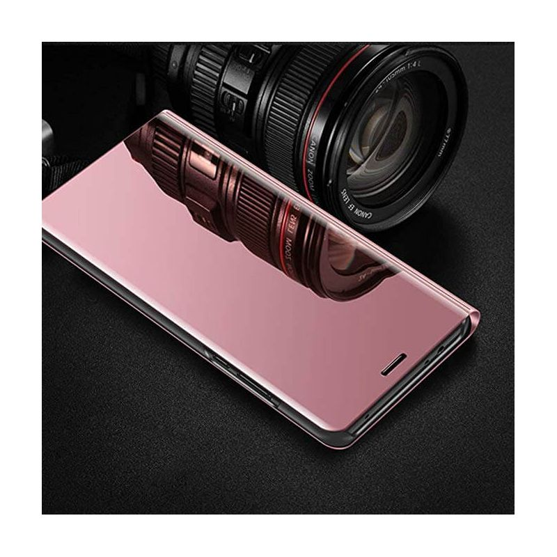 e2828d022e7 Funda libro de espejo Rosa Clear View para Samsung Galaxy J4 Plus