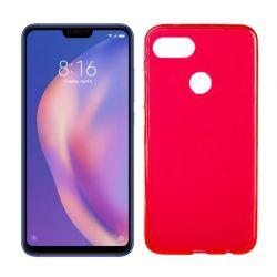 Funda de TPU Mate Lisa para Xiaomi Mi8 Lite Silicona Flexible Rojo