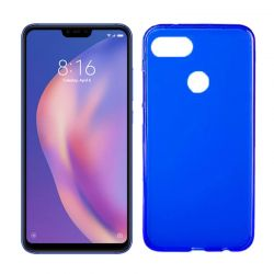 Funda de TPU Mate Lisa para Xiaomi Mi8 Lite Silicona Flexible Azul