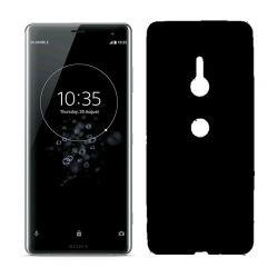 Funda de Silicona Mate Lisa para Sony Xperia XZ3 color Negro