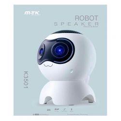 Altavoz Bluetooth Robot Perro K3501 3W Blanco con MP3 y Manos Libres