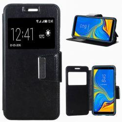 Funda libro con tapa, ventana y soporte - Samsung Galaxy A7 Negro
