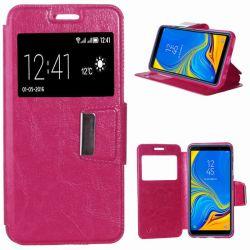 Funda libro con tapa, ventana y soporte - Samsung Galaxy A7 Rosa