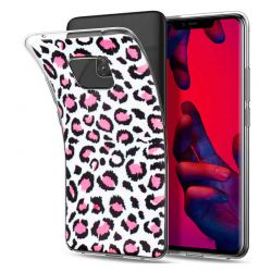 Funda de Silicona con Dibujo de Leopardo Rosa para Huawei Mate 20 Pro