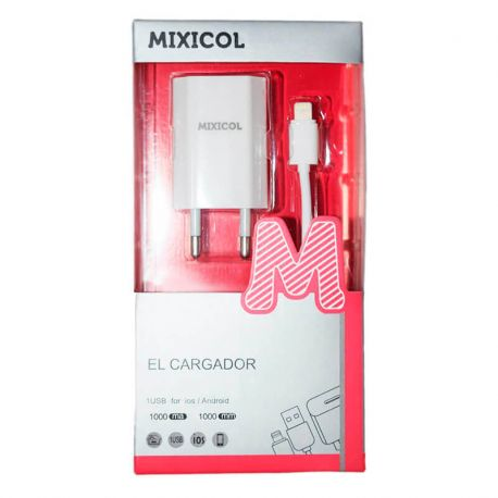 Cargador de Red Usb de 1A y cable Lightning para iPhone 5 6 7 8 X