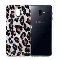 Funda de Silicona con Dibujo de Leopardo para Samsung Galaxy J6 Plus
