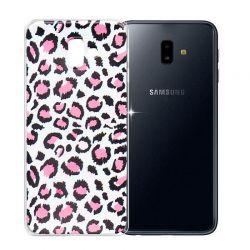 Funda de Silicona Dibujo de Leopardo Rosa para Samsung Galaxy J6 Plus