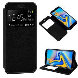 Funda libro con tapa, ventana y soporte - Samsung Galaxy J6 Plus Negro