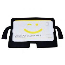 """Funda de silicona Universal Tablet 7"""" Negro para niños con soporte"""