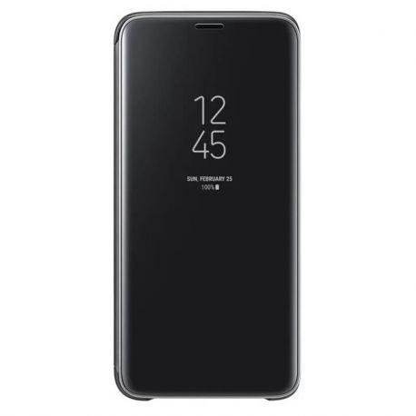 Funda libro de espejo Clear View para Samsung Galaxy J4 Plus Negro