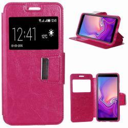 Funda tipo libro con cierre magnetico para Samsung Galaxy J6 Plus Rosa