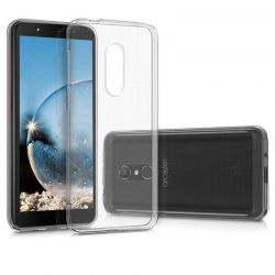 Funda flexible de Silicona Transparente para Alcatel 1C