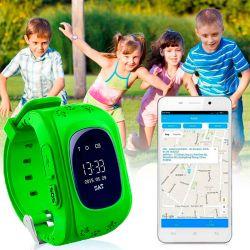 Reloj Q50 Verde SOS antipérdida para niños con GPS y App para su control