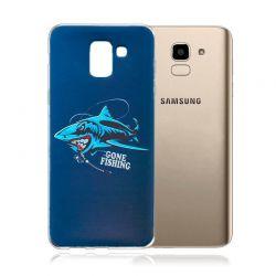 Funda de Silicona con Dibujo de Tiburón para Samsung Galaxy J6 2018