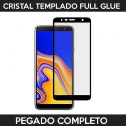 Protector pantalla adhesivo completo Samsung Galaxy J4 Plus / J6 Plus Negro