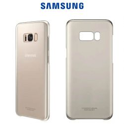 Funda Carcasa Original Clear Cover Dorada para Samsung Galaxy S8 Plus