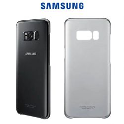 Funda Carcasa Original Clear Cover Negra para Samsung Galaxy S8 Plus