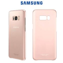 Funda Carcasa Original Clear Cover Rosa para Samsung Galaxy S8 Plus