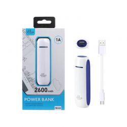 Power Bank PB105 - Bateria Externa Azul de 2600 mAh y 1A para móviles