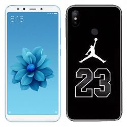 Funda Negra de Silicona con Dibujo de Jordan 23 Xiaomi Mi A2 / Mi 6X