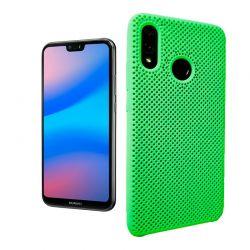Funda de Silicona perforada para Huawei P20 Lite Verde