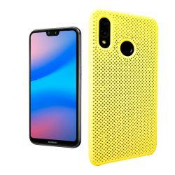 Funda de Silicona perforada para Huawei P20 Lite Amarillo