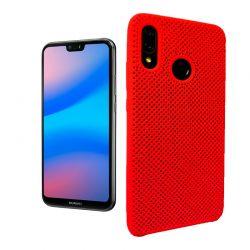 Funda de Silicona perforada para Huawei P20 Lite Rojo