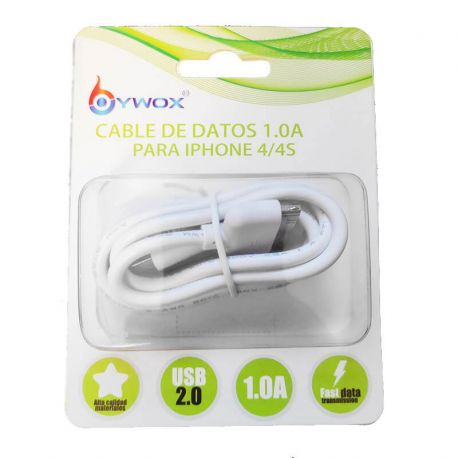 Cable de Carga y Datos para Iphone 4 4S 3GS 3G IPAD 3 2 1, 1 Metro