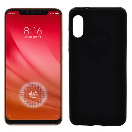 Funda de TPU Mate Lisa para Xiaomi Mi 8 Pro Silicona Flexible Negro